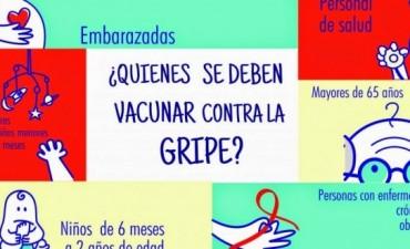 Continúa en vigencia la campaña de vacunación antigripal