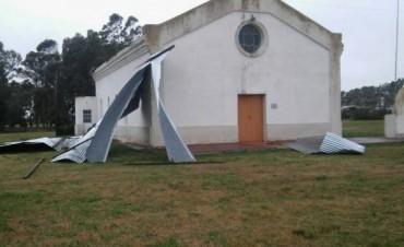 Se voló el techo de la capilla de Colonia Nievas