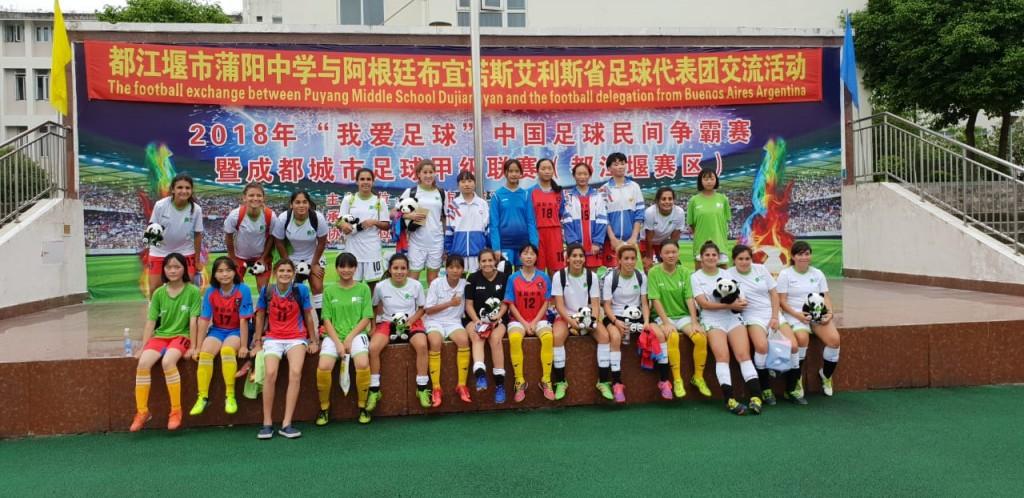 Fútbol femenino: tramo final de la experiencia en China