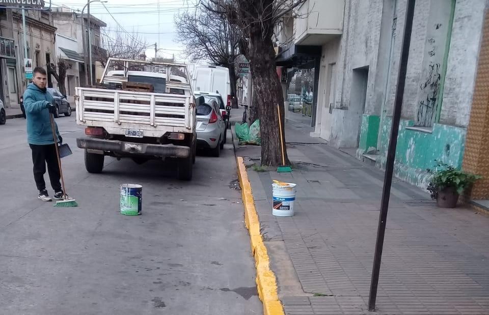 Demarcación vial en distintos puntos de la ciudad