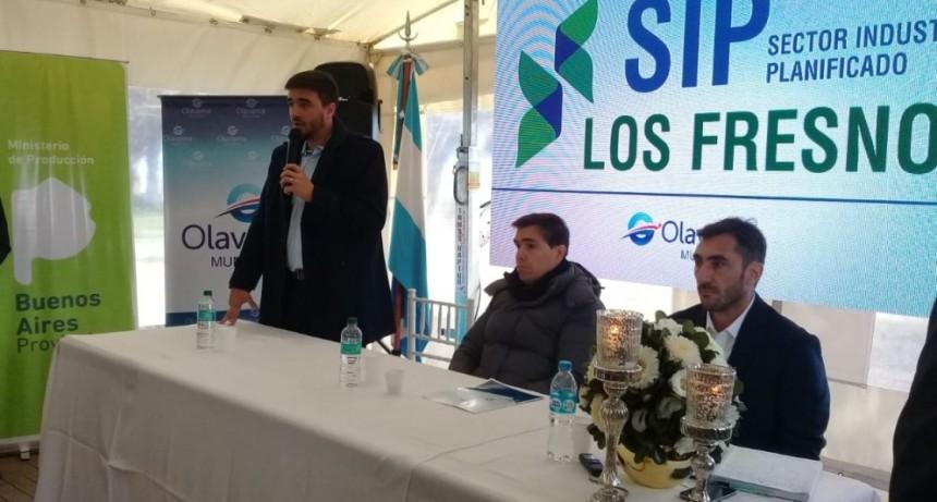 El Ministro de Producción de la provincia, en el lanzamiento del Sector Industrial Planificado 'Los Fresnos'