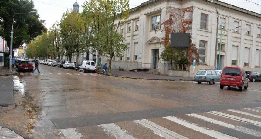 Corte de tránsito en Belgrano y Rivadavia