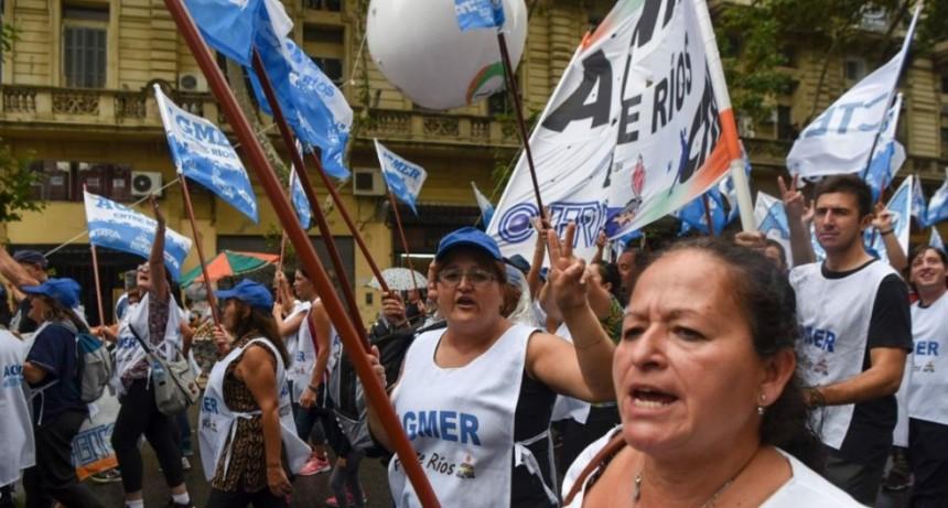 Marcha de las dos CTA en Buenos Aires