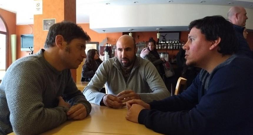 Aguilera y Valicenti mantuvieron una reunión de trabajo con Kicillof