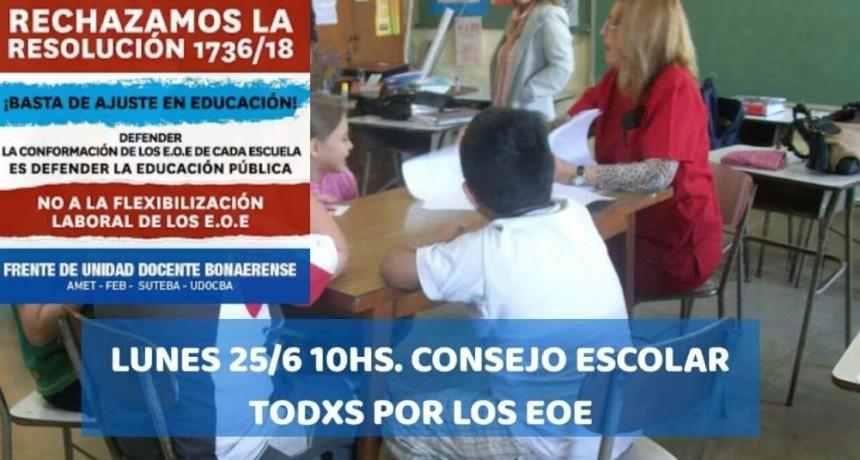 Gremios Docentes convocan a movilizarse al Consejo Escolar