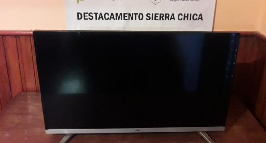 Robaron un televisor en Sierra Chica y lo vendieron  en Olavarría