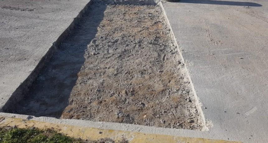 Comenzó la construcción de mesetas en Colón y Pellegrini