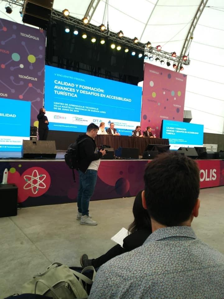 Funcionarios locales en el Encuentro Federal de Calidad Turística y Cumbre Global de Discapacidad