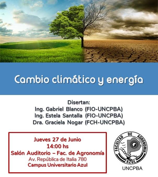 Jornada sobre cambio climático y energía