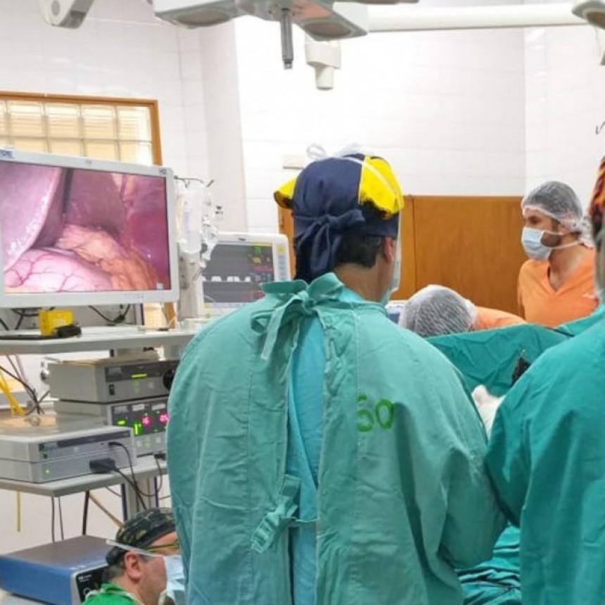 Cirugía laparoscópica inédita en el Hospital Municipal
