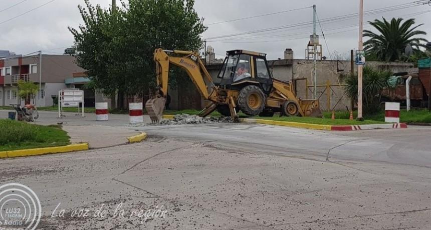 Se inicia la construcción de mesetas en un tramo de Avda. Colón