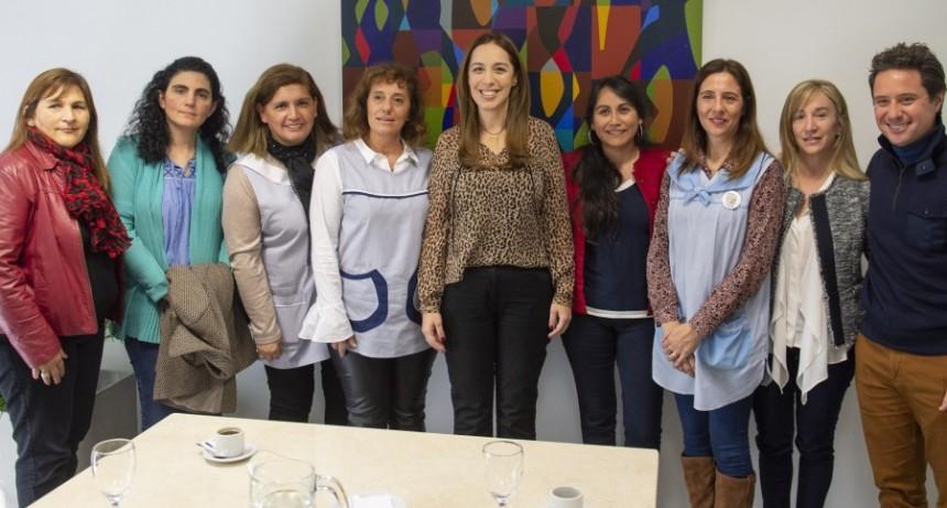 Vidal recibió a directoras de la Red de Escuelas de Aprendizaje