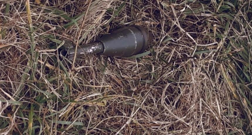 Un proyectil de calibre 80 milímetros de mortero fue encontrado en el Golf del CAE