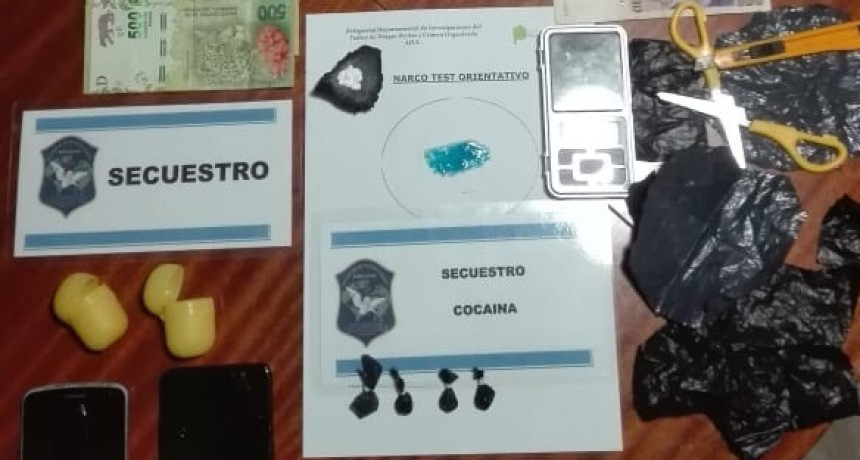 Allanamientos antidroga: Secuestran varias dosis de cocaína y aprehenden a dos personas