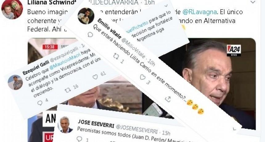 Los políticos locales se expresaron en Twitter por Macri-Pichetto