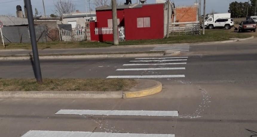 Demarcaciones de sendas peatonales en diferentes puntos de la ciudad