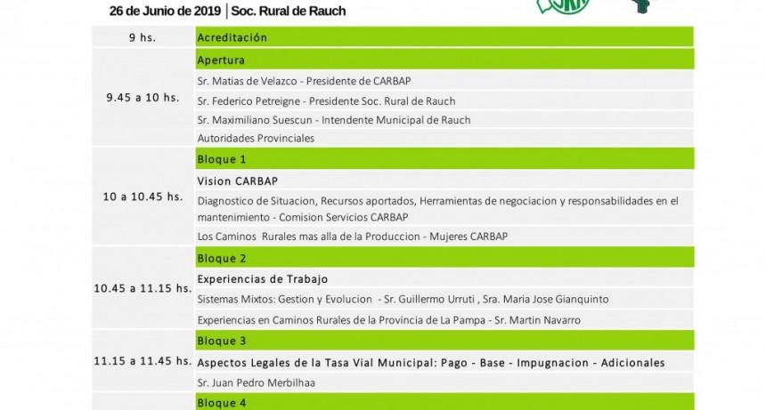 Rauch: Segundo Simposio de Caminos Rurales organizado por CARBAP
