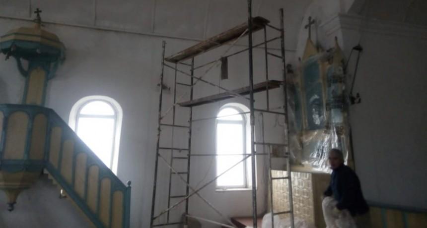 Avanzan los trabajos de recuperación de la Capilla de Colonia Nievas
