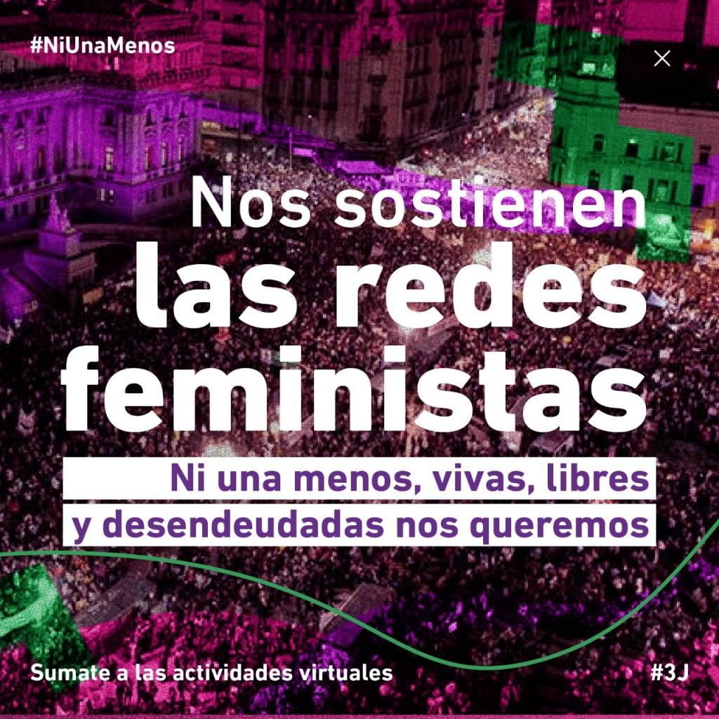 A 5 años del primer Ni Una Menos 'Nos sostienen las redes feministas'