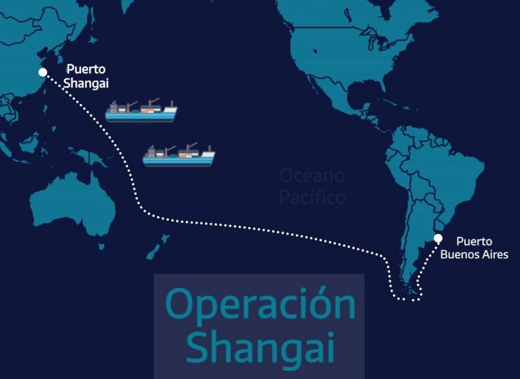 Operación Shangai: tres barcos traerán cerca de 7 millones de insumos para la provincia