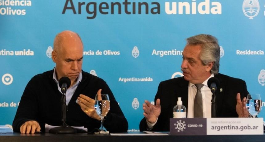 Alberto Fernández se reunirá este miércoles con Larreta, para analizar las diferencias entre CABA y la provincia de Buenos Aires en torno a la cuarentena