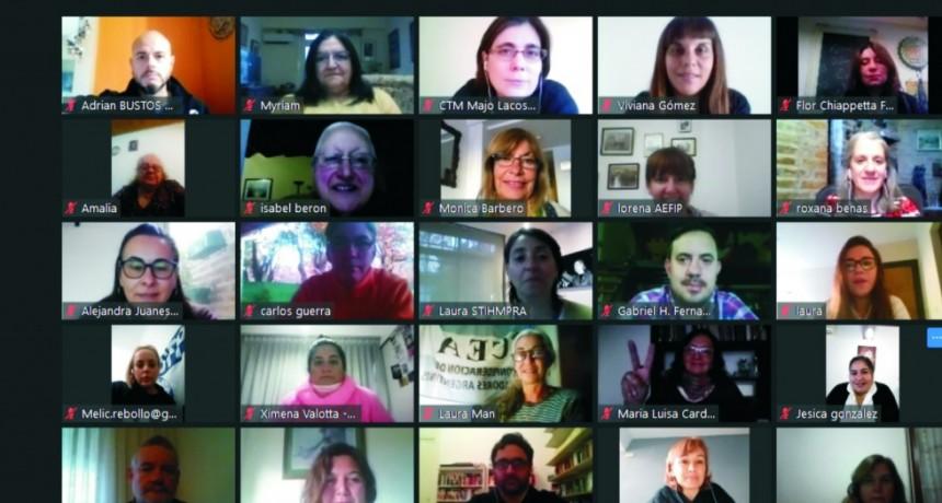 Encuentro de integrantes de la Red Intersindical Contra la Violencia Laboral y  legisladores nacionales