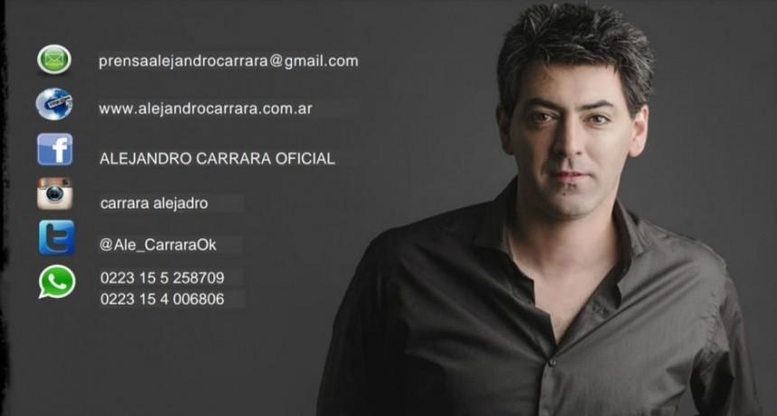 Alejandro Carrara cantó en vivo para Lu 32