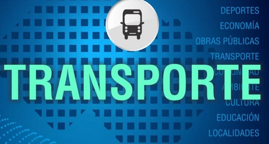 Transporte: la oficina funciona en la Casa de la Cultura