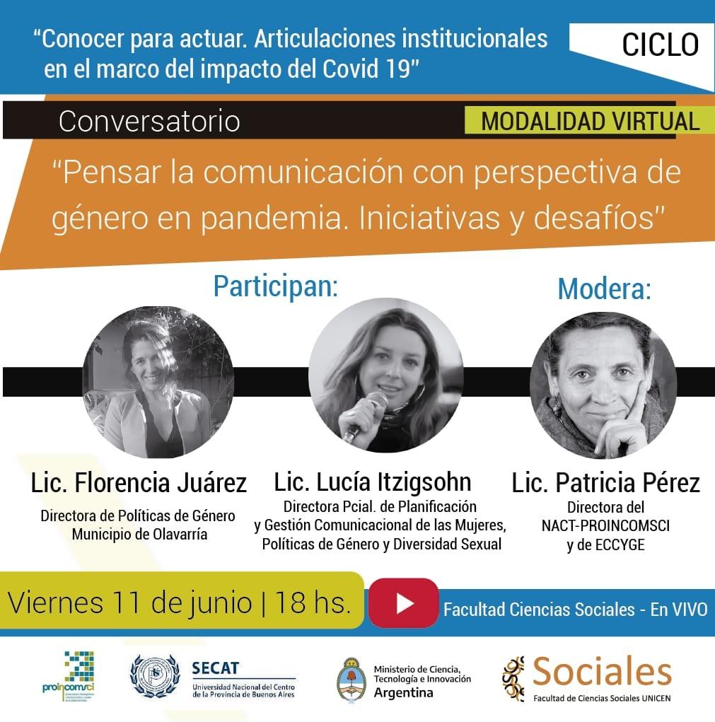 "Anuncian conversatorio para ""Pensar la comunicación con perspectiva de género en pandemia"""
