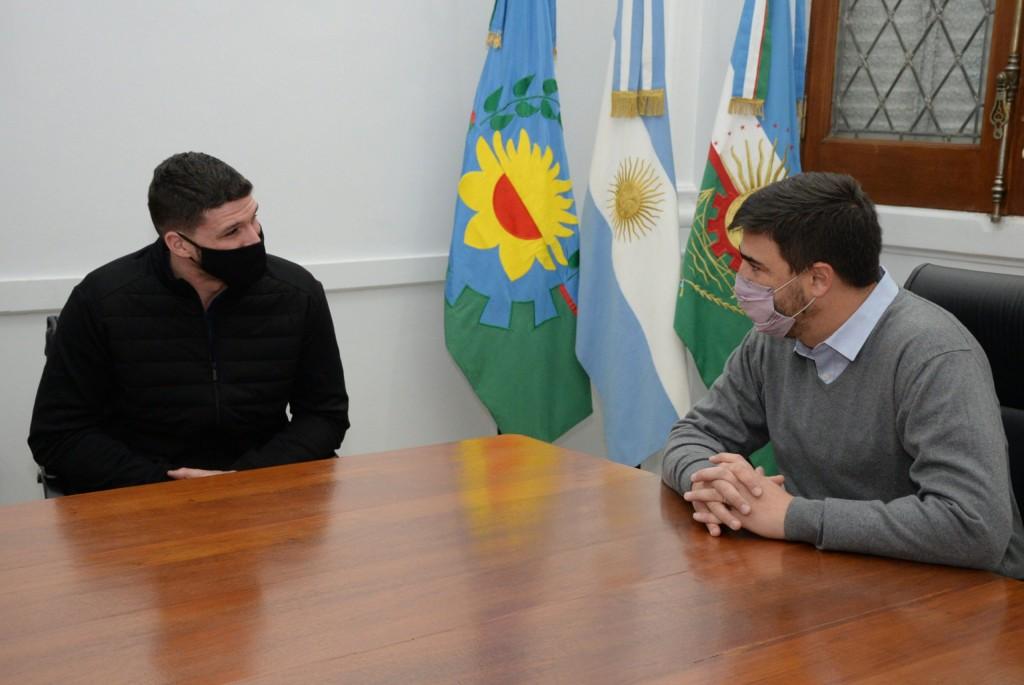 El intendente Ezequiel Galli recibió a Alejandro Diez