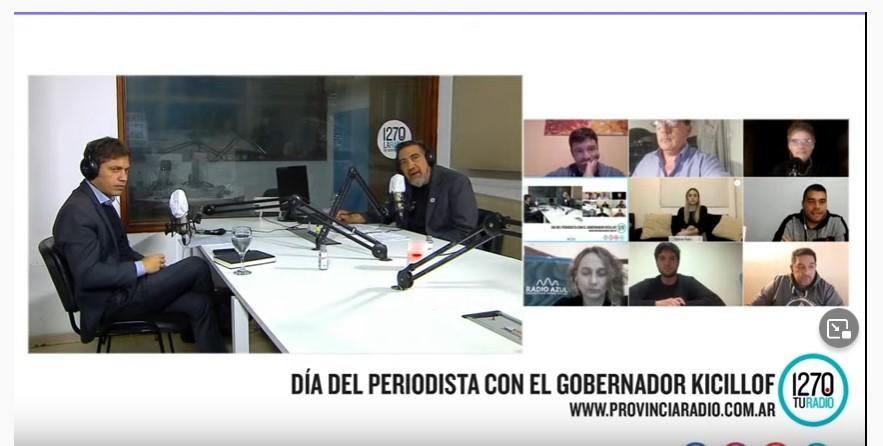El gobernador en entrevista con medios del interior