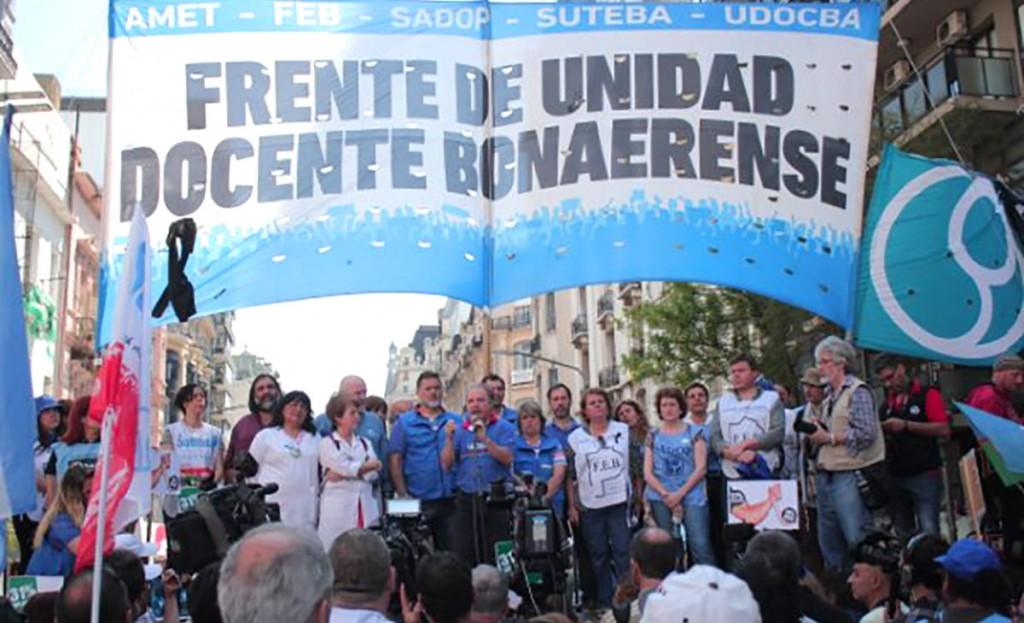 El Frente Docente Bonaerense pide la reapertura de paritarias