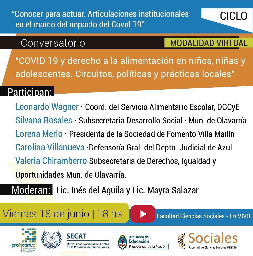 Conversatorio 'COVID 19 y derecho a la alimentación en niños, niñas y adolescentes'