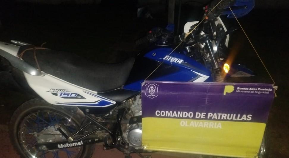 Recuperan una motocicleta que tenía pedido de secuestro