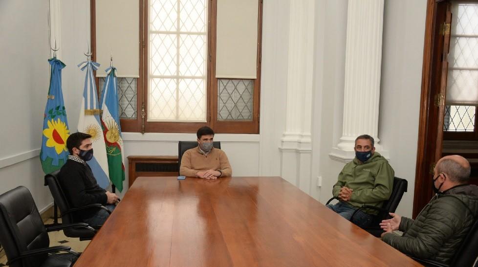 El intendente Galli recibió al presidente de la Sociedad Rural