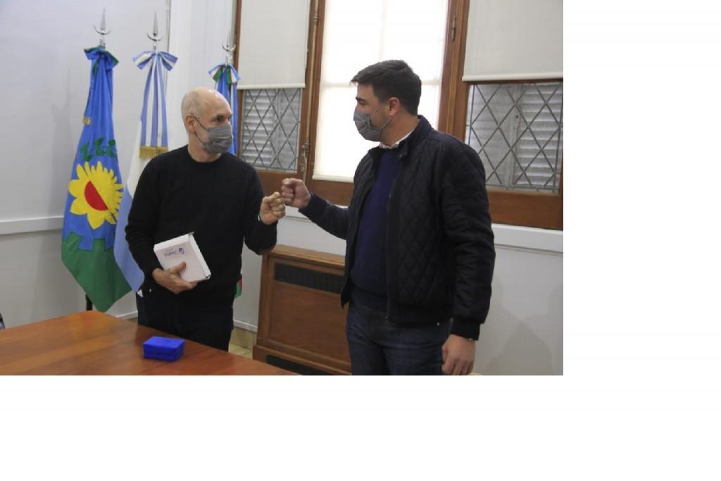 El intendente Galli recibió al jefe de Gobierno de la Ciudad Horacio Rodríguez Larreta