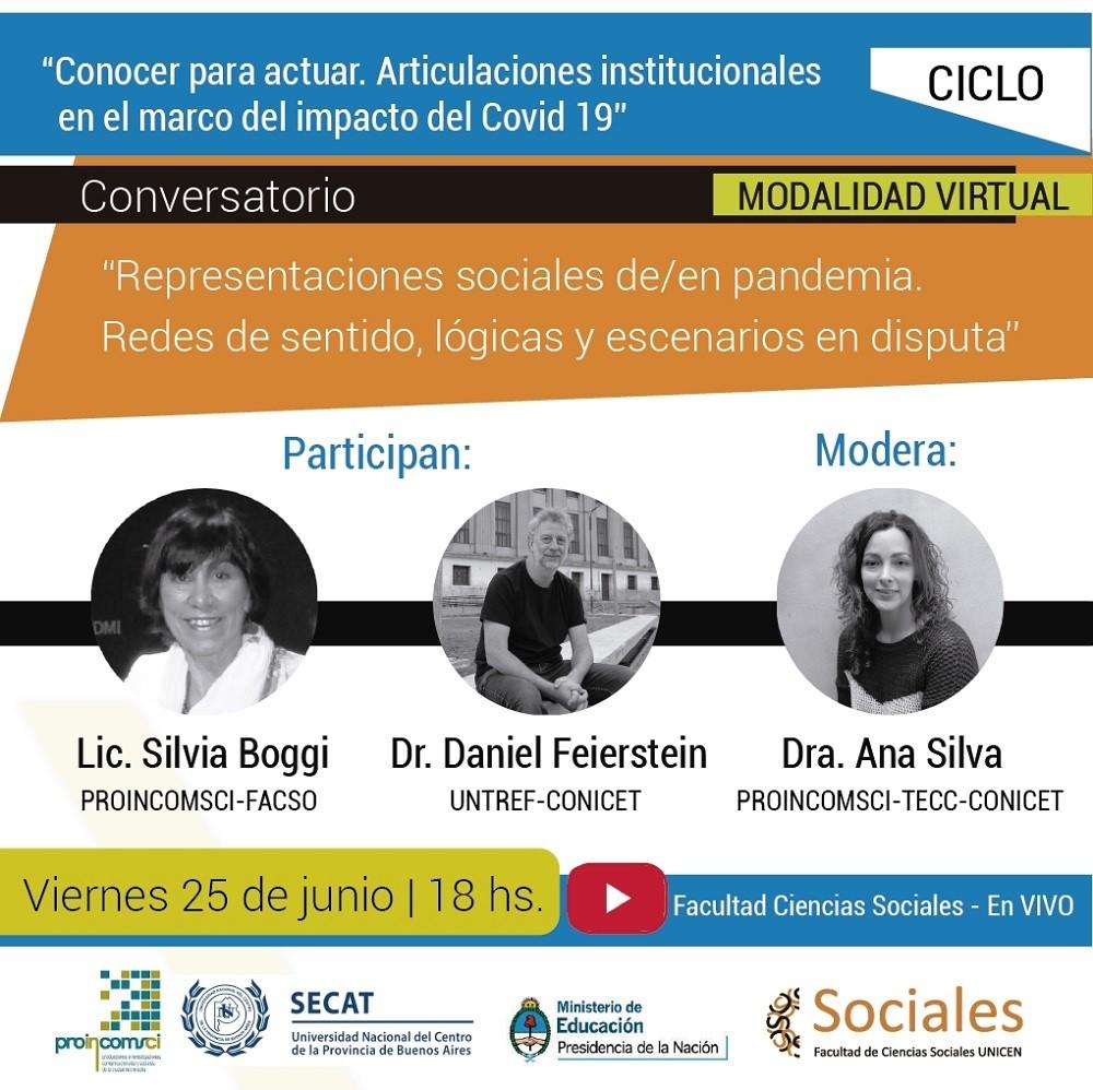 Conversatorio 'Representaciones sociales de/en pandemia. Redes de sentido, lógicas y escenarios en disputa'