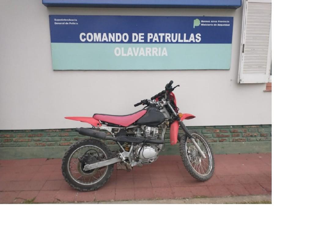 Recuperan una moto con pedido de secuestro activo