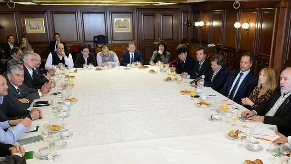 Scioli se reunió con intendentes