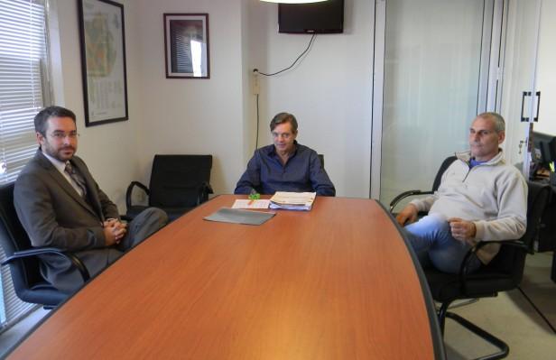 El Vicepresidente del OCABA recibió al director de Aguas de Balcarce