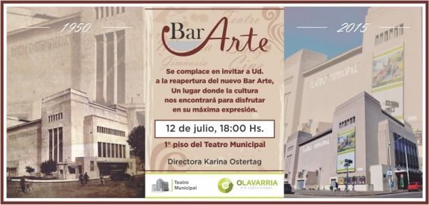 Inaugura el Bar Arte del Teatro Municipal