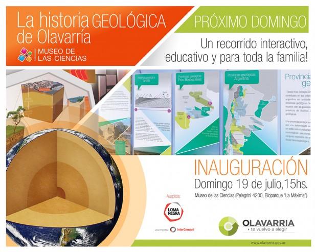 """Inaugura la muestra: """"La historia geológica de Olavarría"""""""