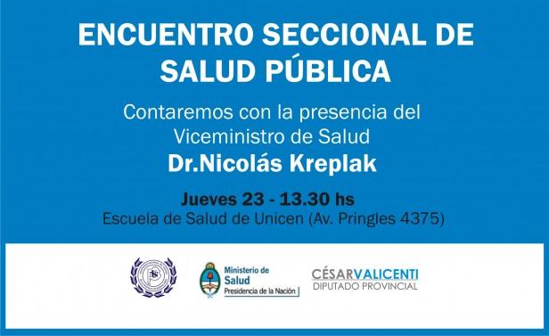 El Viceministro de Salud de la Nación estará en Olavarría