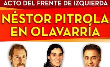 Acto del Frente de Izquierda Néstor Pitrola en Olavarría