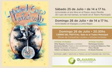 Llega a Olavarría y las localidades el 4° Festival de Circo Callejero