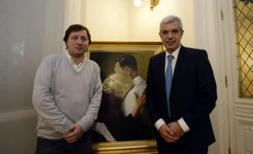 Santellán se reunió con Julián Domínguez