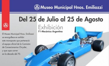 """Se exhibe un F1 en el Museo Municipal """"Hnos Emiliozzi"""""""