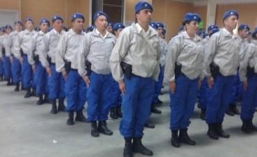 Los policías locales de Olavarría en la calle
