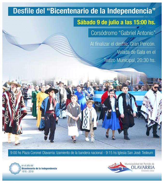 El sábado se realizará el acto por el Bicentenario de la Independencia