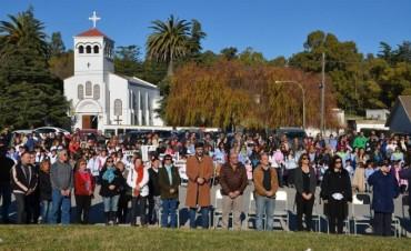 Ezequiel Galli participó de los desfiles en las localidades